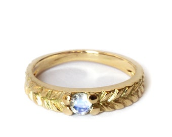 Ring Josephine moonstone - 18ct gold