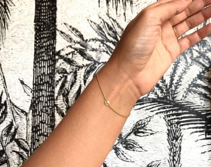 Featured listing image: Skull chain bracelet memento mori style 18ct gold