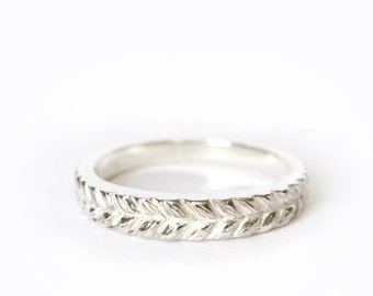 Josephine's silver band - rapunzel stacking ring - silver 925