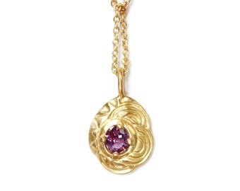 NEW! Landscape1 pendant gold 18 ct and pink sapphire