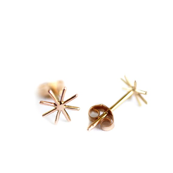 Gold or silver earrings Orion - Cocteau inspiration - 18 ct rose gold - yellow gold - white gold or silver