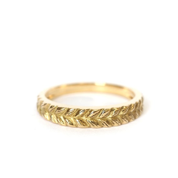 Braid gold wedding band - 18ct - rose gold - yellow gold - rapunzel ring - gold band - gold jewellery - stackable ring