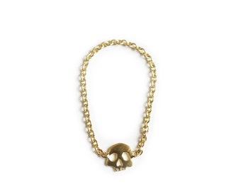 Skull ring memento mori style 18ct gold