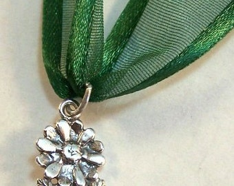 Sterling Silver Wedding Cake Pull Charm FLOWER Love Will Bloom 3475