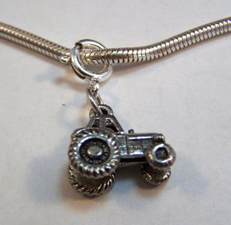 5189 Pewter Tractor Charm-Fits European and Traditional Charm Bracelets