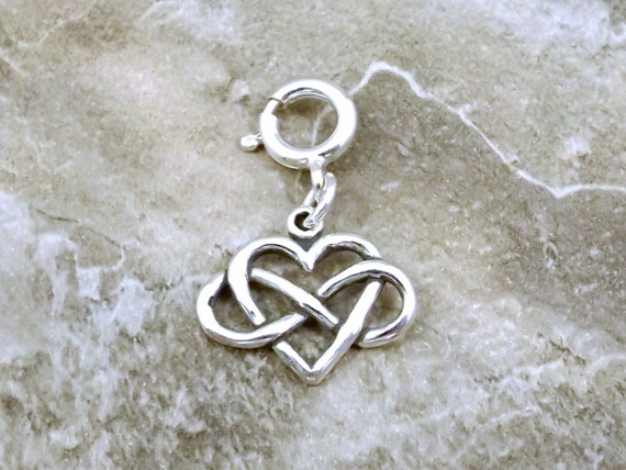 Sterling Silver Infinity Heart Symbol Everlasting Love