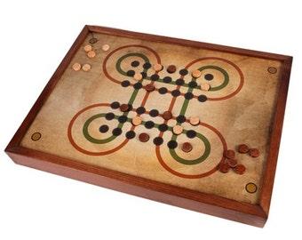 Surakarta game board in wood
