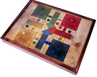 Parchís - Ludo Game - handmade in wood,present