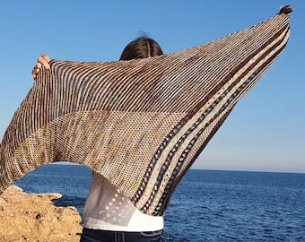 Knitting Shawl Pattern PDF, Triangle Shawl Pattern, Digital Download, Matoaka Shawl Pattern, Knitted Shawl, DIY