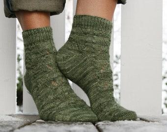 Skogens Socks PDF Knitting Pattern, handknitted socks / Instant download PDF Knitting Pattern, Knit yourself