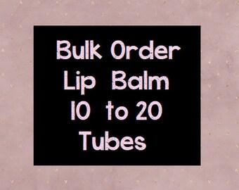 10-20 Tubes, Lip Balm, Hen Party, Wedding Favours, Wedding Favor, Lipbalm, Wholesale, Bulk Buy, Gift for Him, Medusa Holistics