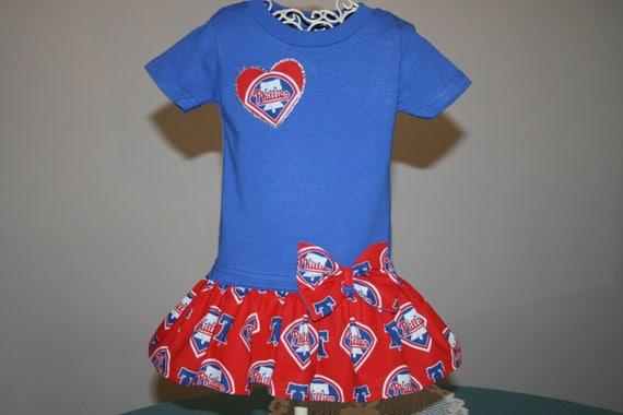 010f9656a Baby Girls Philadelphia PHILLIES T shirt Dress Infant Infants