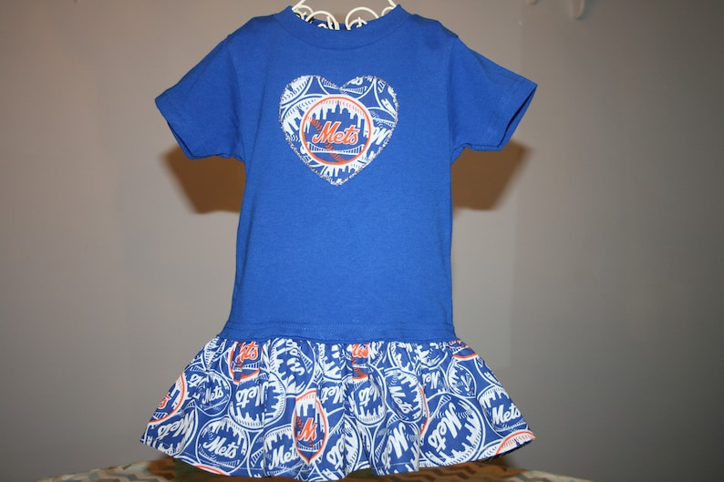 the best attitude 5745e 8d604 Little Girls New York METS T shirt Dress Infant Infants Toddlers Toddler  Youth Baseball Dresses Select Tab Below 4 Size/Style & Heart Size