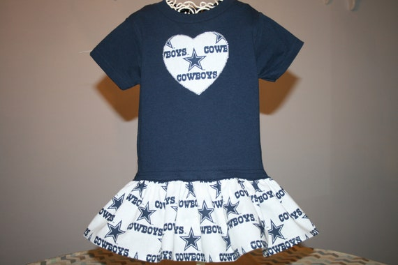 458c4c5e Baby Girls Dallas COWBOYS T shirt Dress Infant Infants Toddler Toddlers  Youth Game Day Football Dresses SELECT Tab4 Dress & Heart Size