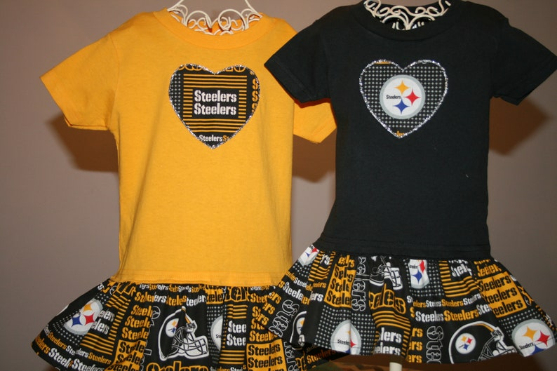 san francisco ac974 5e9b9 Girls Pittsburgh STEELERS T shirt Dress ~Use Tab4 Size/Hearts/ColorT~~All  Style Dresses Any Fabric Available Football most Baseball&College