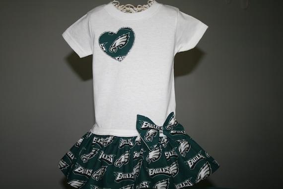 21254bef2 Baby Girls White or Gray EAGLES T shirt Dress Infant Infants