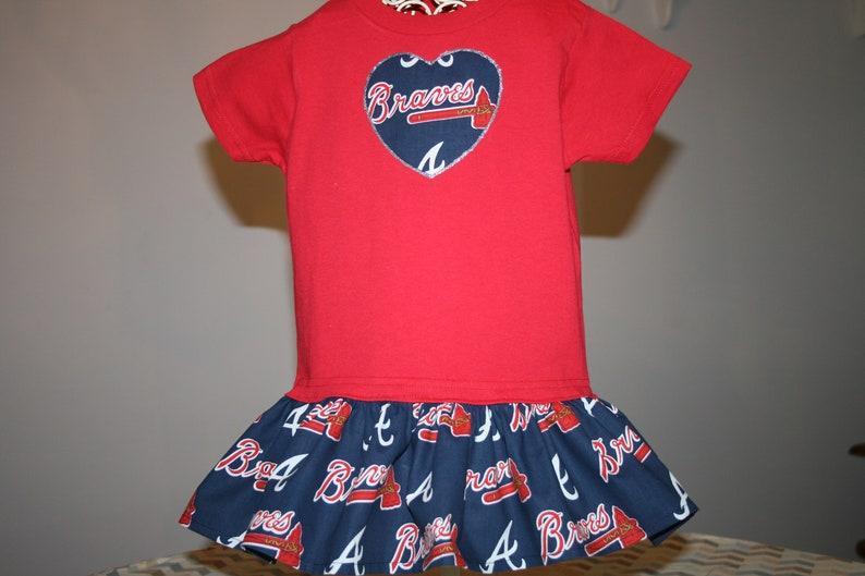 0fc7e7683d4 Baby Girls Atlanta BRAVES T shirt Dress Infant Infants Toddler | Etsy