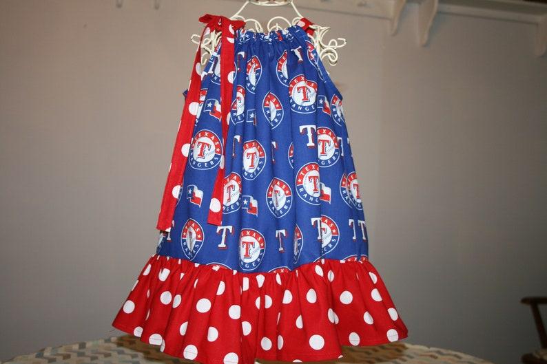 84ea7fc39bb Girls Atlanta BRAVES Pillowcase Dress w/ Adjustable Ties image 0 ...