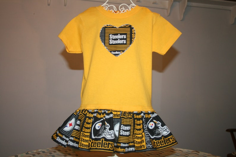 9fac74e630d Little Girls Pittsburgh STEELERS T shirt Dress Infant Infants