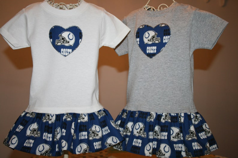 outlet store 2a152 06775 Baby Girls Indianapolis COLTS T shirt Dress Infant Infants Toddler Toddlers  Youth Football Dresses Select Tab 4 Dress & Heart Size/Color T