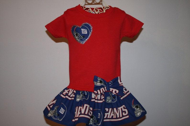 4af5e057d Little Girls New York GIANTS T shirt Dress Infant Infants