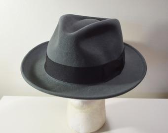844321ee407 Vintage Men s Fedora Wool Hat JAXONhats.com