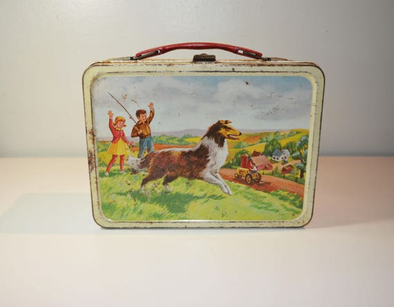 Thermos Child's Metal Lunchbox/Collie Lassie Dog/1