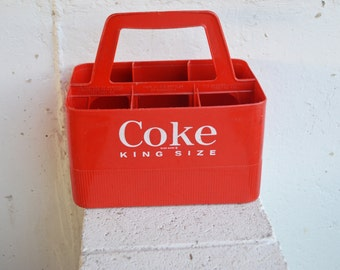 King Size Coke/Coca-Cola Plastic Caddy/Bottle Carrier