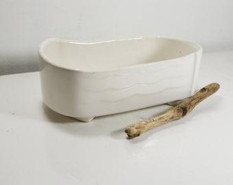 Vintage/Mid-Century White Glaze Planter, Pottery