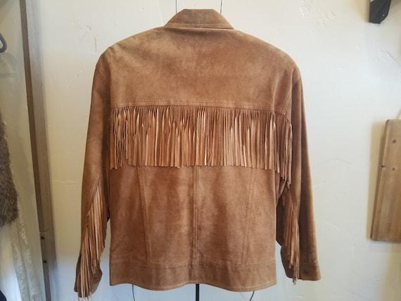Fringe western leather jacket, tassle jacket, sout