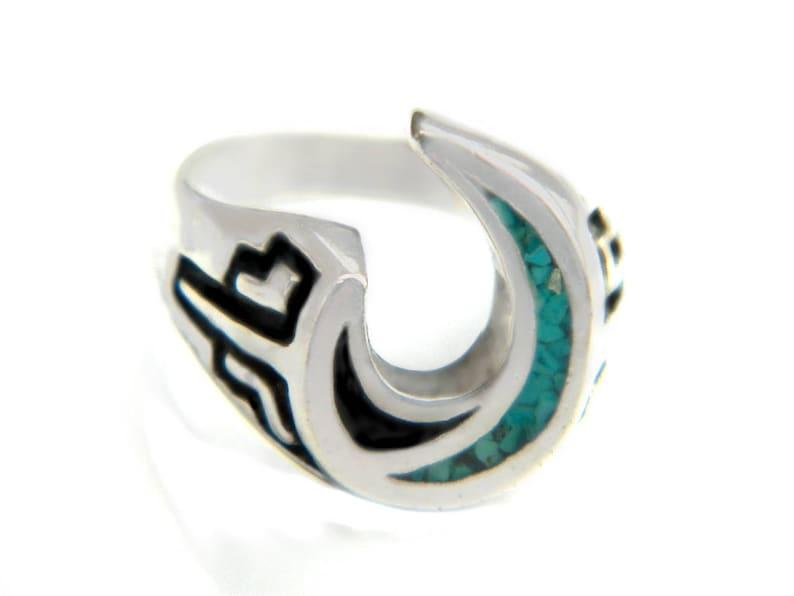 e797af2b4 Crescent Moon Ring Harley Davidson Biker Native American | Etsy