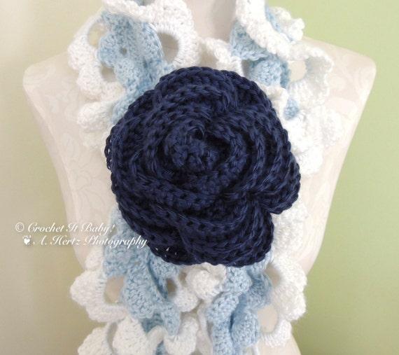 Crochet Large Rose Pattern Only Etsy