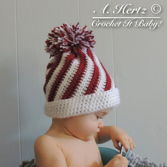Crochet Candy Swirl Hat 4 Sizes Pattern Only From Crochetitbaby