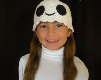 Crochet Ghost Hat (5 Sizes) - PATTERN ONLY