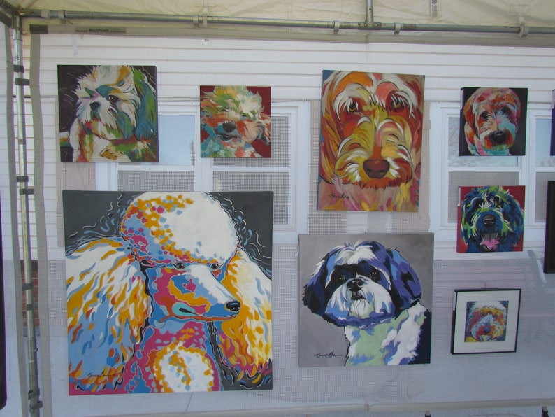 Poodle Print Poodle Lover Birthday Gift Poodle Office Decor Art Poodle Portrait Poodle Bedroom Decor