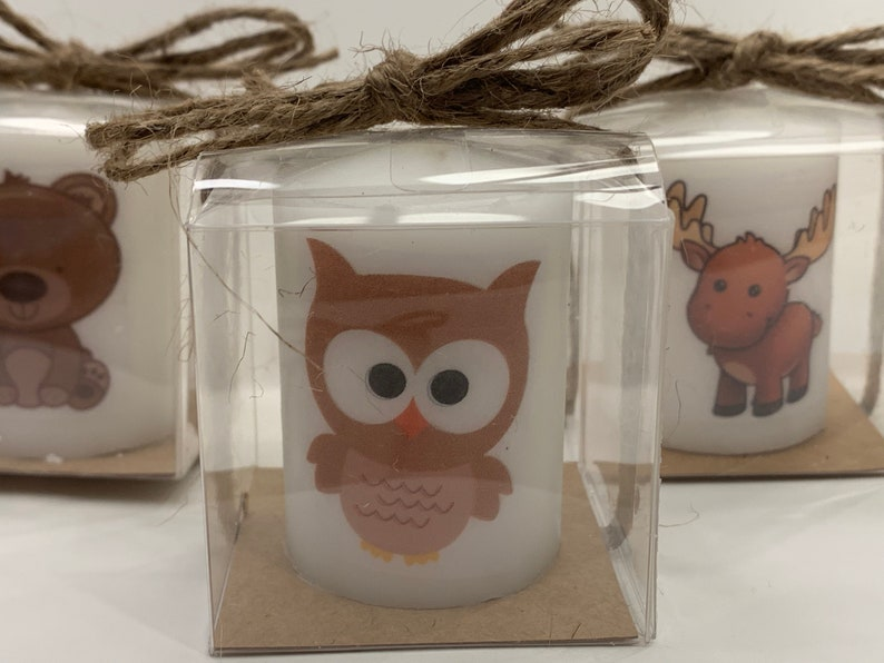 Woodland creatures Baby shower favors neutral favors heart image 0