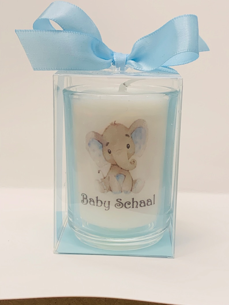 Thank you favors Baby shower favors elephant themed image 0
