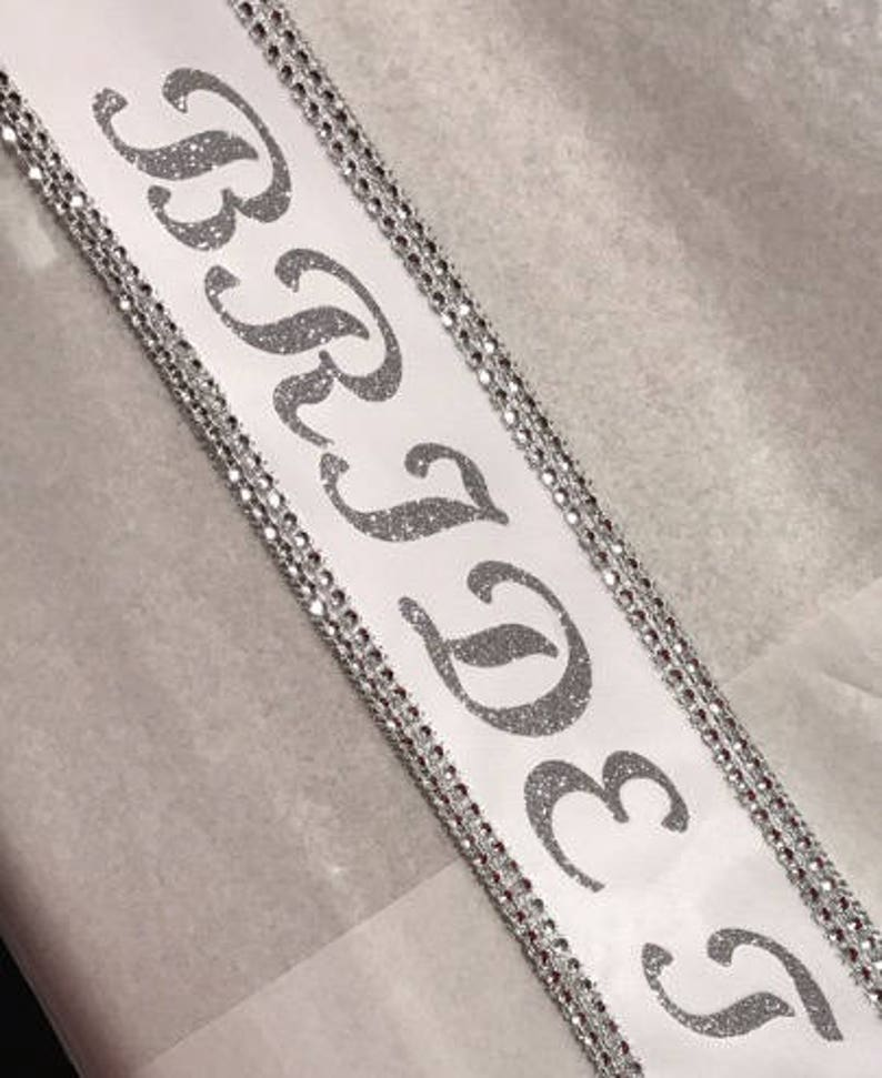 Pageant sashes bridal party sash Bride to Be  Bachelorette image 0