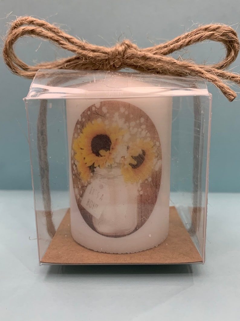 Rustic Baby shower favors neutral favors sunflower themed image 0
