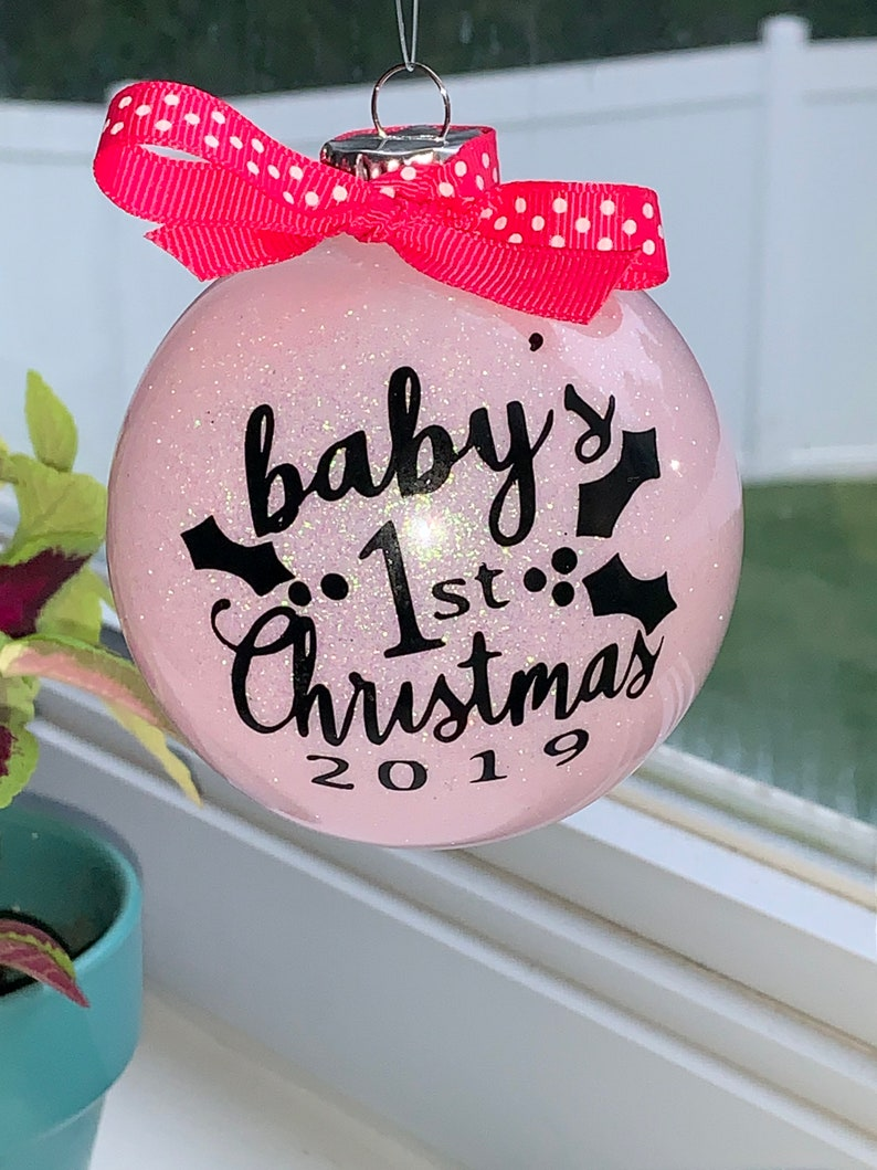 Babys first Christmas Ornament new baby gift Welcome home image 0