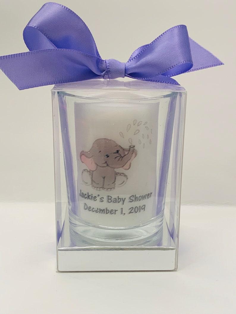 Lavender Personalized Baby shower favors gender neutral image 0