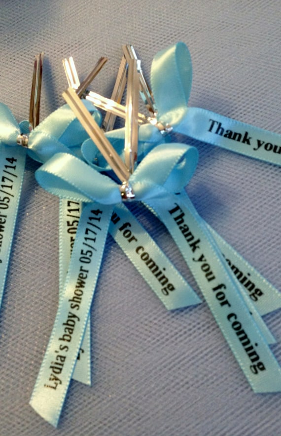 Personalized Ribbon For Party Favors Baby Shower Favors Etsy
