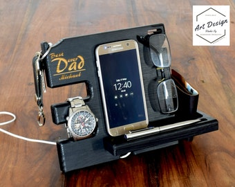 Customized best man, Gift For Men, personalized groom gift, custom groomsman, personalized initials gift, Custom Docking station, black col.