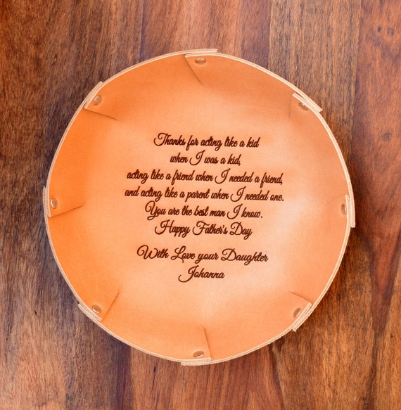 adc5a827272b ... Leather Tray with Your Vows Song Message   Personalized Tray    Anniversary Gift   Desk Organizer