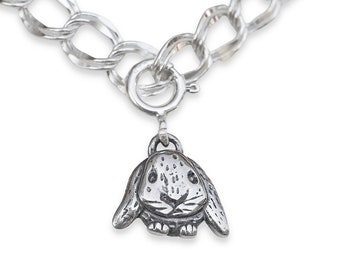 Rabbit charm Bunny rabbit charm Rabbit jewelry