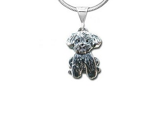 Sterling Silver Lhasa Apso Pendant