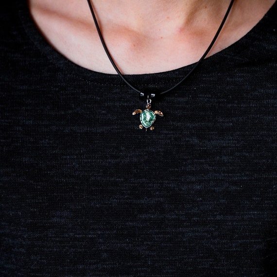 The Magic Zoo Enamel Green Snake Necklace