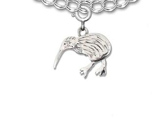 Sterling Silver Kiwi Bird Charm