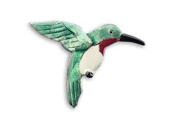 Enamel Hummingbird Pin
