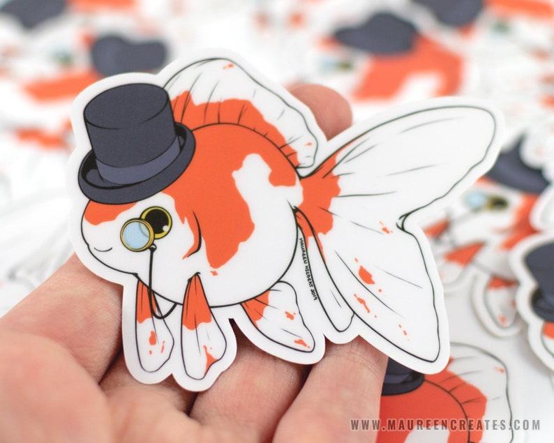 Fancy Goldfish Vinyl Sticker image 0
